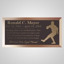 Pitcher Bronze Plaque