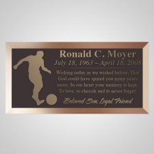 Goal Bronze Plaque