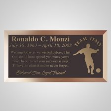 Italia Bronze Plaque