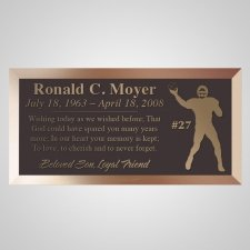 Football Bronze Plaque