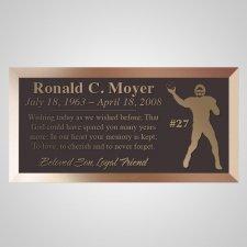 Football Bronze Plaque