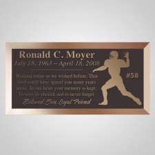 Touchdown Pass Bronze Plaque