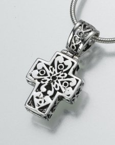 Filigree Cross Pet Memorial Jewelry