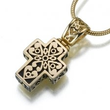 Filigree Cross Cremation Jewelry IV