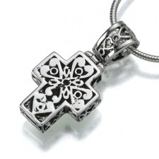 Filigree Cross Cremation Jewelry III