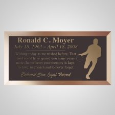 Basketball Star Bronze Plaque