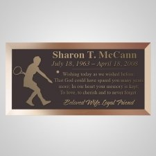 Tennis Player Bronze Plaque