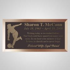 Woman Bowler Bronze Plaque