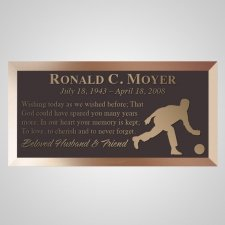 Man Bowler Bronze Plaque