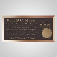 Bowling Bronze Plaque