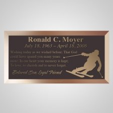 Ski Guy Bronze Plaque