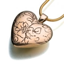 Floral Heart Keepsake Pendant II