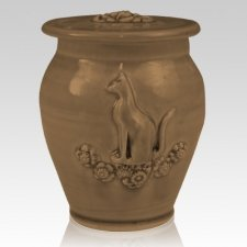Kitty Moss Black Ceramic Cremation Urn