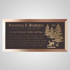 Wilderness Bronze Plaque