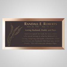 Farm Wheat Bronze Plaque