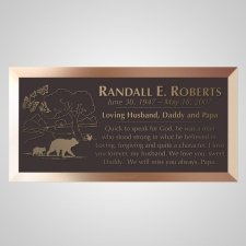 Marching Bears Bronze Plaque