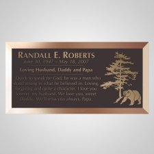 Grizzly Bear Bronze Plaque