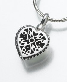 Filigree Heart Pet Cremation Jewelry III