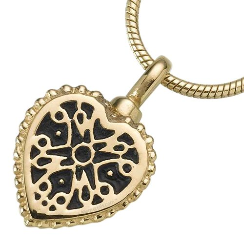 Filigree Heart Keepsake Pendant II