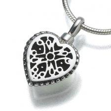 Filigree Heart Keepsake Pendant