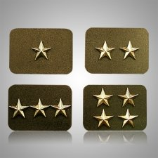 Officers Stars Medallion Appliques