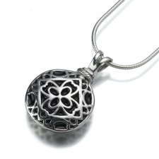 Filigree Round Keepsake Pendant