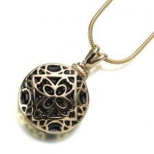 Filigree Round Keepsake Pendant III