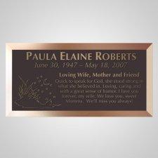 Night Life Bronze Plaque