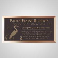 Crane Bronze Plaque