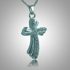 Curved Cross Memorial Jewelry