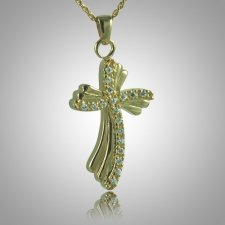 Curved Cross Memorial Jewelry II
