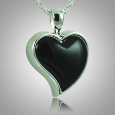 Indented Onyx Heart Keepsake Pendant III