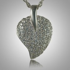 Indented Stone Heart Keepsake Pendant