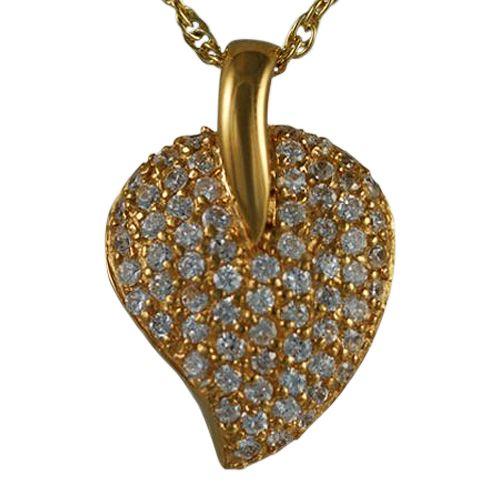 Indented Stone Heart Keepsake Pendant II