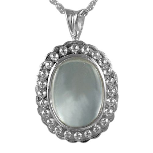 Oval Glass Locket Cremation Pendant