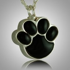 Pet Paw Onyx Cremation Keepsake III