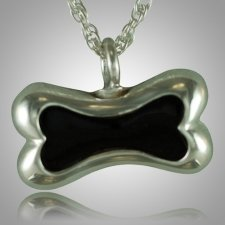 Dog Bone Onyx Cremation Pendant