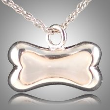 Dog Bone Pearl Cremation Pendant III
