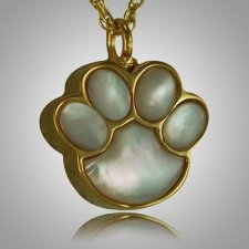 Pet Paw Pearl Cremation Keepsake II