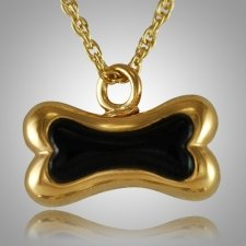 Dog Bone Onyx Cremation Pendant II