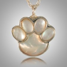 Pet Paw Pearl Cremation Keepsake III