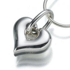 Loop Heart Keepsake Pendant