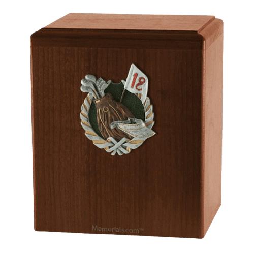 18th Hole Walnut Cremation Urn