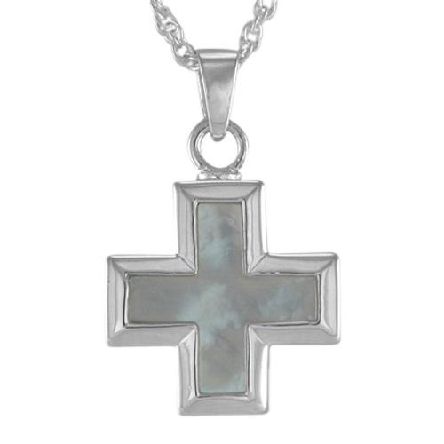 Pearl Mini Cross Keepsake Pendant III