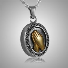 Praying Hands Cremation Pendant II