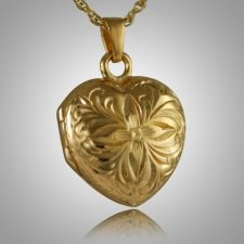 Flower Heart Locket Keepsake Pendant IV
