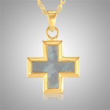 Pearl Mini Cross Keepsake Pendant IV
