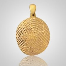 Large Finger 14k Yellow Gold Print Keepsakes