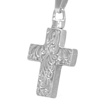Large Etched Cross Cremation Jewelry