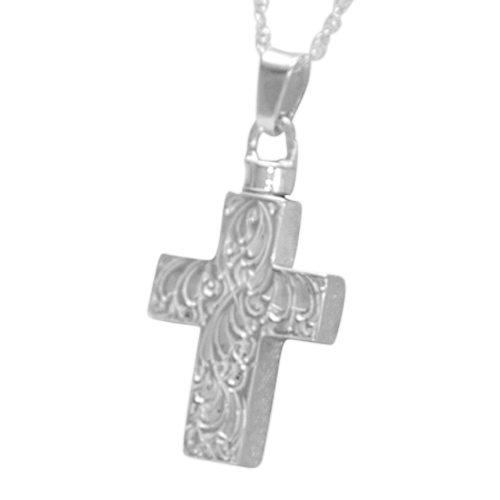 Etched Cross Memorial Jewelry